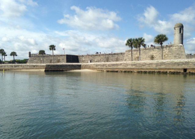 Waterside view of the Castillo de San Marcos