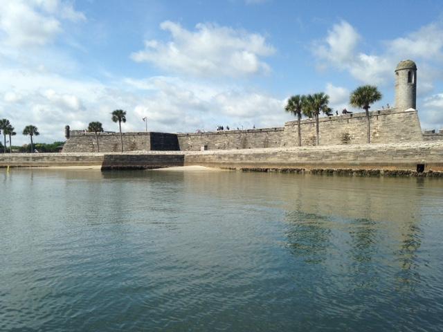 Waterside view of the Castillo de San Marcos